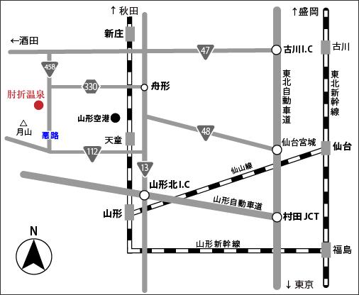 肘折温泉周辺地図2